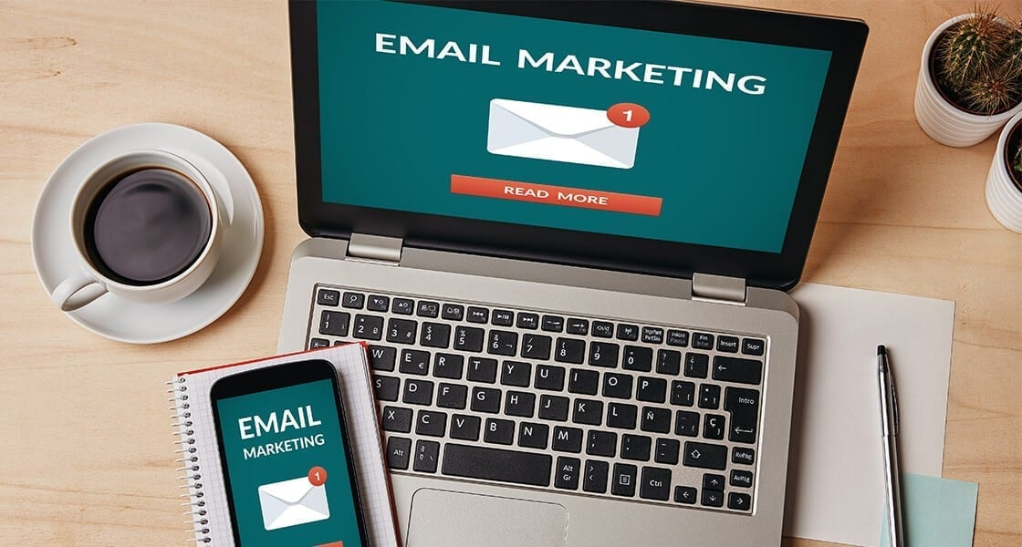 email marketing - Email marketing laptop1120x600px - Top 5 Email Marketing Tips