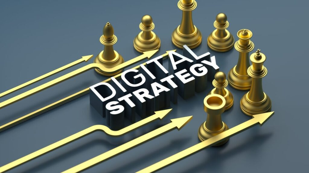 Digital Strategy Chess Arrow Concepts