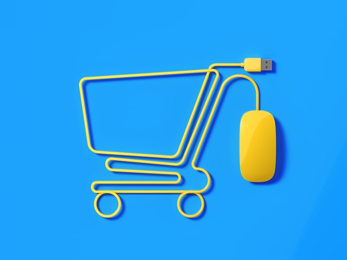 Digital Cart For Online Retailers ecommerce website - Digital Marketing For Retail - Simple eCommerce Website